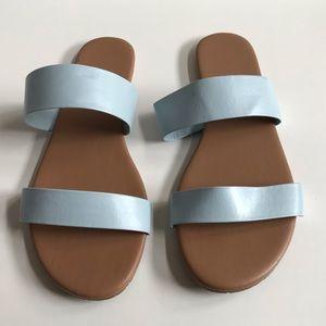 Lauren Conrad sandals in the style Firefli LT BLUE